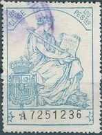 Spagna-Spain,Spanish,España,Ministry Of Justice, Revenue Stamp Taxe Fiscal 1.20 PEStas ,Used - Fiscales