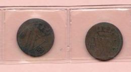 2 Pièces   Nederland    1/2   Cent  1854  Et 1859    Pays-Bas - 1849-1890 : Willem III
