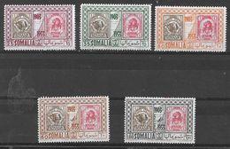 SOMALIA - 1953 - 50° FRANCOBOLLO BENADIR - SERIE CPL 5 VAL. NUOVA MNH** ( YVERT 230/232 + P.A. 45/6 - MICHEL 283/287) - Somalia