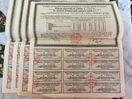 Conseil De La Dette Publique Répartie De L'Ancien Empire Ottoman ------ Lot  De  4 Reçus - Hist. Wertpapiere - Nonvaleurs