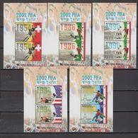 South Korea 2001 Football Soccer World Cup Set Of 5 S/s MNH - 2002 – South Korea / Japan