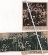 LOKEREN.1935.1937. HULDIGING VAN DE NATIONALE CROSSKAMPIOEN OSCAR VAN RUMST - Old Paper
