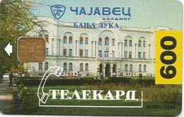 Bosnia (Serb Republic) 1996. Chip Card 600 UNITS Tirage : 8.700 - Bosnie