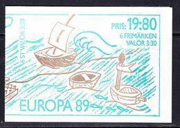 Europa Cept 1989 Sweden Booklet ** Mnh (49355) - 1989