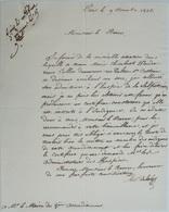 L..S. Le Marquis De La Suze, 1825, Demande D'une Attestation Pour Une Indigente - Handtekening