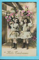 FANTAISIE---MILLE TENDRESSES---( Fillettes + Paniers De Fleurs )---voir 2 Scans - Feiern & Feste