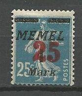 MEMEL N° 83 NEUF* TRACE DE CHARNIERE  / MH - Memel (1920-1924)
