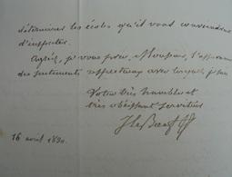 L.A.S. Le Boeuf Jean-Claude, 1830, Lettre Au Baron Le Prieur - Handtekening