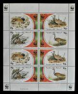 115. PALESTINE 2001 STAMP S/S BIRDS , W.W.F. MNH - Palestine