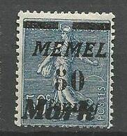 MEMEL N° 81 Variétée Barre De Gauche Plus Courte NEUF* CHARNIERE  / MH - Memel (1920-1924)