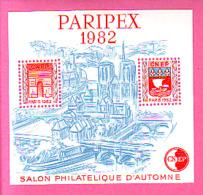 BLOC CNEP 1982 N° 03 ** SALON PHILATELIQUE D'AUTOMNE PARIPEX 1982 AVEC PONT A COTE SACRE COEUR N°3 - CNEP