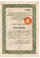 China - Lung Tsing U Hai Railroad - 1000 Guilders - 1928 Dutch Issue 1er Tranche - Asie