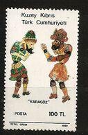 Turquie Chypre Turc RTCN 1986 N° 166 ** Théâtre D'ombres, Karagöz, Figurines, Marionettes, Ramadan, Hacivat, Violence - Chypre (Turquie)