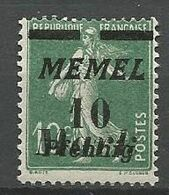 MEMEL N° 79 NEUF* CHARNIERE  / MH - Memel (1920-1924)