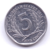 EAST CARIBBEAN STATES 2015: 5 Cents, KM 36 - Caraibi Orientali (Stati Dei)