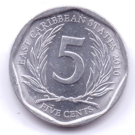 EAST CARIBBEAN STATES 2010: 5 Cents, KM 36 - Caraibi Orientali (Stati Dei)