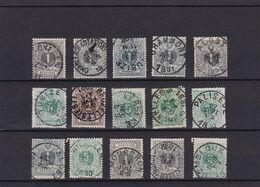 N° 43 , 44 Et 45 Lot  : Lokeren , Tubize , Alost , Lebbeke, Paliseul , Wichelen , Gembloux.... - 1869-1888 Lying Lion