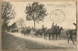 CPA [54] Meurthe Et Moselle > Luneville - Les Mitailleuses De La Brigade De Chasseurs à Cheval (coin Haut Droit Abimé) - Luneville