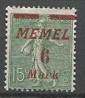 MEMEL N° 87 NEUF* CHARNIERE  / MH - Memel (1920-1924)