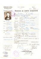 Pey. Demande De Carte D'Identité. Etat Francais 1941.Carte D'identité De Fonctionnaire.3 Documents. - Altri Comuni