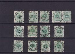 N° 45 : Lot : Alost , Bastogne , Spa , Termonde , Lebbeke , Tamise Marbais , Vilvoorde - 1869-1888 Lying Lion