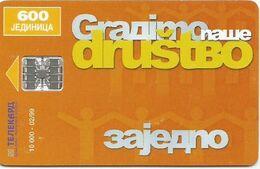 Bosnia (Serb Republic) 1999. Chip Card 600 UNITS  10.000 - 02/99 - Bosnie