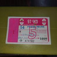 Israel-egad Tel-Free Monthly-(cod 54)-holon,azur,bet-yam,tel-aviv-(144 New Sheqalim)-(number474182)-mai97-used - Bus