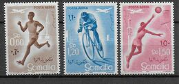 SOMALIA - 1958 - SPORT DIVERSI - SERIE 3 VALORI - NUOVA MNH** ( YVERT AV 69/71- MICHEL 347/349) - Non Classificati