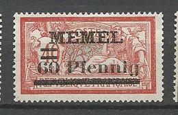 MEMEL N° 34 NEUF* CHARNIERE  / MH - Memel (1920-1924)