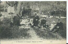 LE DIMANCHE A LA CAMPAGNE - Déjeuner Sur L'herbe ( Pub LE ROI DES ANTI CORS ( AMIENS) - Non Classificati