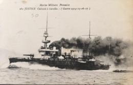 Marine Militaire Française - JUSTICE Cuirassé à Tourelles - Warships