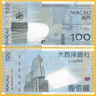 Macau Macao 100 Patacas P-82a 2005 BNU Banco Nacional Ultramarino UNC - Macao