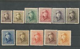 OCB  165 ==> 175 * Postfris Met Scharnier - 1919-1920 Behelmter König