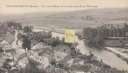 DUN SUR MEUSE 55 Vue Sur La Meuse Et Le Canal , Prise De La Ville Haute - Dun Sur Meuse