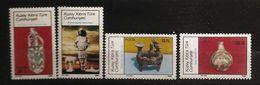 Turquie Chypre Turc RTCN 1986 N° 167 / 70 ** Archéologie, Âge Du Bronze, Oiseau, Cruche, Néolithique, Artémis, Statue - Chypre (Turquie)