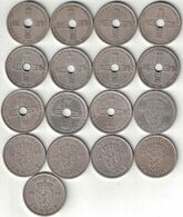 Norway Collection Of 17x 1 Krone Coins 1925-1957 All Listed & Different - Norwegen