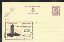 Publibel Neuve N° 639  ( Carrelages  J. VOS - Bruxelles - Renard - Fox) - Entiers Postaux