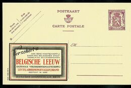 Publibel Neuve N° 632  ( Assurances - Belgische Leeuw) - Entiers Postaux