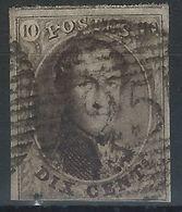 AA-/-051.- N° 10,  Obl. N° 25, SANS FILIGRANE  -  Cote 10.00 €  - IMAGE DU VERSO SUR DEMANDE - 1858-1862 Medallions (9/12)
