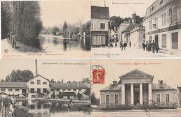 4 CPA:BAR SUR SEINE (10) CROC FERRAND,PAPETERIE DE VILLENEUVE,PALAIS DE JUSTICE,BOULANGERIE HÔTEL DU COMMERCE - Bar-sur-Seine