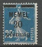MEMEL N° 20 NEUF*  TRACE DE CHARNIERE  / MH - Memel (1920-1924)