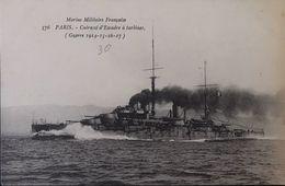 Marine Militaire Française - PARIS - Cuirassé D'escadre à Turbines - Warships