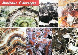 Carte Postale  Les Mineraux D'Auvergne Fluorine,  Améthyste , Jaspe , Agate , - Minerals