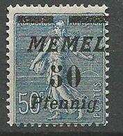 MEMEL N° 54 NEUF*  TRACE DE CHARNIERE  / MH - Memel (1920-1924)