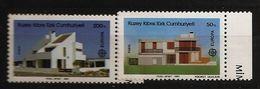 Turquie Chypre Turc RTCN 1987 N° 188 / 9 ** Europa, Emission Conjointe, Architecture, Architecte, Beacheddin, Turgay - Chypre (Turquie)