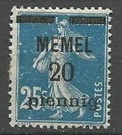 MEMEL N° 20 NEUF*   CHARNIERE  / MH - Memel (1920-1924)