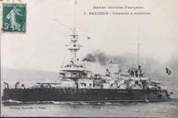 Marine Militaire Française - BRENNUS - Cuirassé à Tourelles - Warships