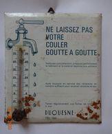 PLAQUE THERMOMETRE . - . ETABLISSEMENT DUQUESNE  ( EURE ). USURE DU TEMPS - Agricoltura