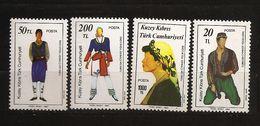 Turquie Chypre Turc RTCN 1987 N° 192 / 5 ** Folklore, Danse, Costume, Foulard, Pantalon, Soie, Fleurs, Beauté, Carnaval - Chypre (Turquie)