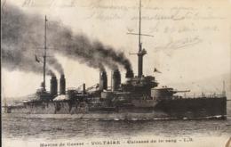 Marine Militaire Française - VOLTAIRE - Cuirassé De Premier Rang - Warships